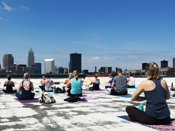 Rooftop Yoga at Lake Affect Studios