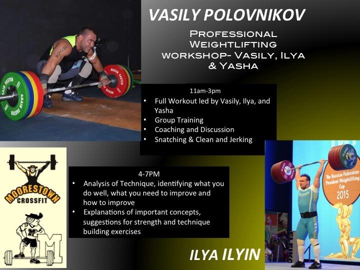 Pro Weightlifting with Vasily,Ilya,Yasha Event tickets - VASILIY POLOVNIKOV