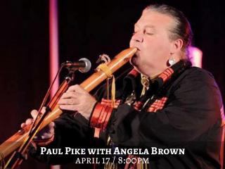 Paul Pike with Angela Brown