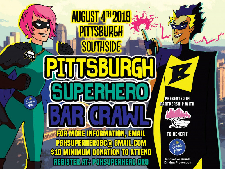 Pittsburgh Superhero Bar Crawl 2018 Event tickets - Simple Hope Foundation