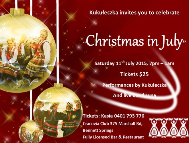 Christmas in July Event tickets - Polish Dance Group Kukuleczka Inc of Perth