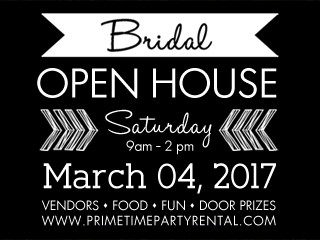 Prime Time's Bridal Open House & Sale! Event tickets - Prime Time Party Rental