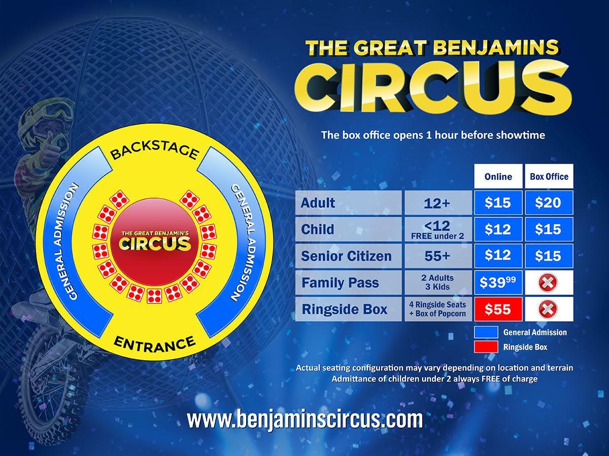 New Philadelphia, OH tickets - Great Benjamins Circus - USA