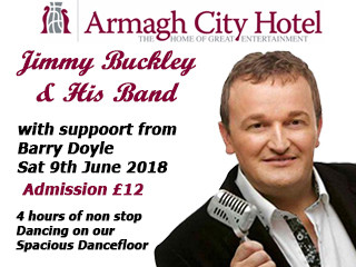 Jimmy Buckley & His Band in Concert tickets - Armagh City Hotel