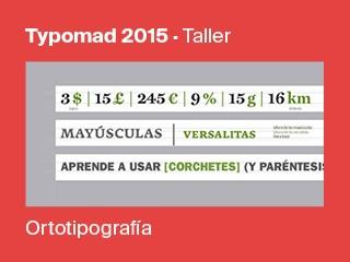 Ortotipografía Event tickets - Typomad 2015