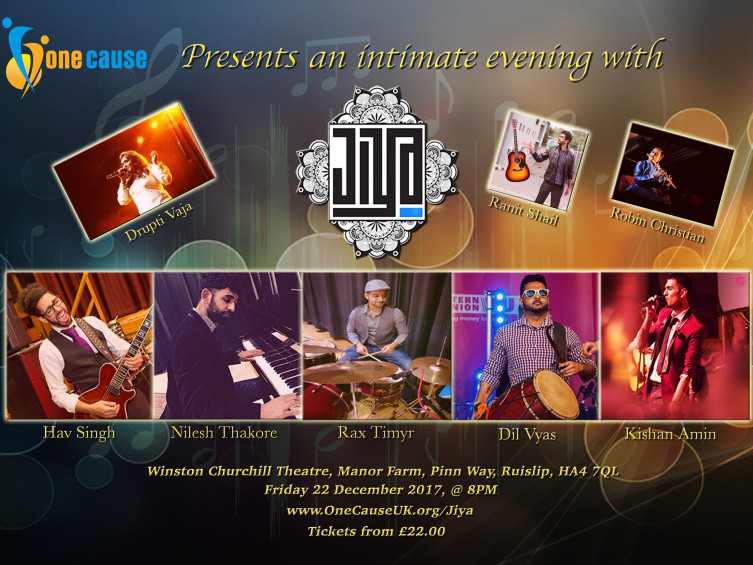A musical evening with JIYA and guests Event tickets - One Cause