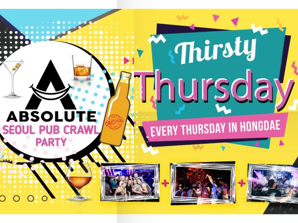 Thirsty Thursdays - Seoul Pub Crawl