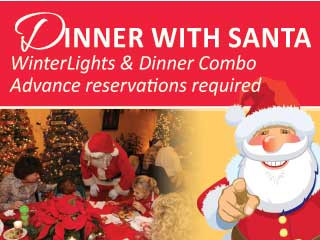 Dinner with Santa 2019 Event tickets - Elizabethan Gardens