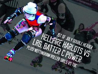 Live Roller Derby Double Header Event tickets - Nottingham Hellfire Harlots