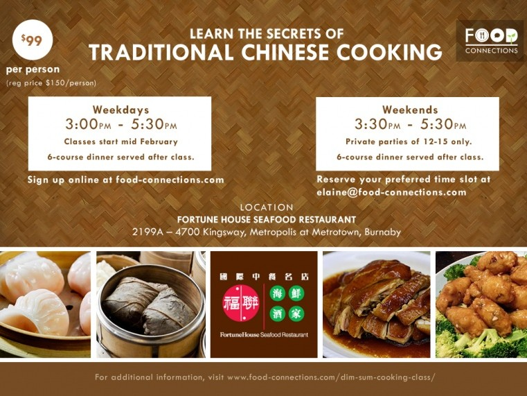 Tracey's Party: Chinese Cooking Class Event tickets - Food Connections