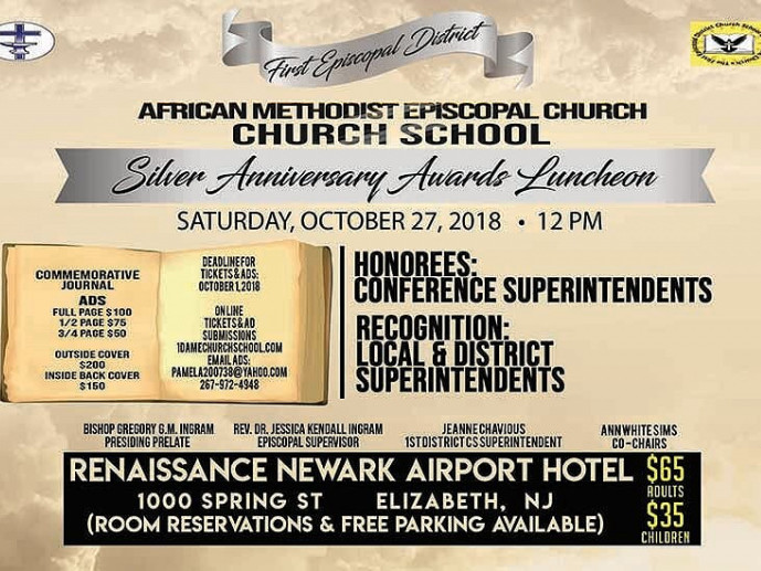 silver anniversary awards luncheon tickets the first episcopal