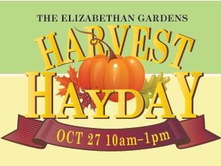 Harvest Hayday 2018 tickets - Elizabethan Gardens