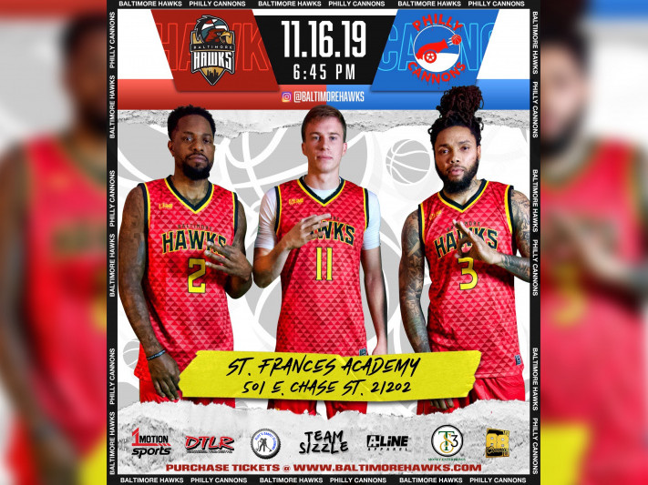 BALTIMORE HAWKS vs PHILLY CANNONS Event tickets - Baltimore Hawks