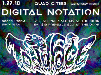 Digital Notation #12 Featuring ToadFace Event tickets - Rascals Live