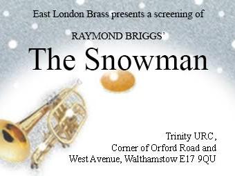 The Snowman - East London Brass Event tickets - East London Brass