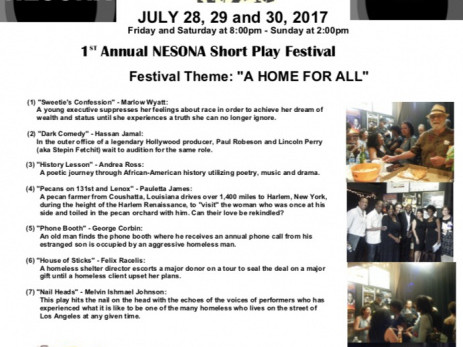 1st Annual NESONA Short Play Festival Event tickets - Black Theater