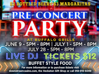 Pre-Concert Party tickets - Downstream Casino