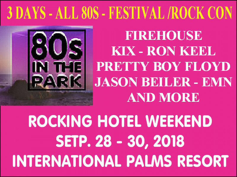 2018 80s rocking hotel tickets - 80sinthepark