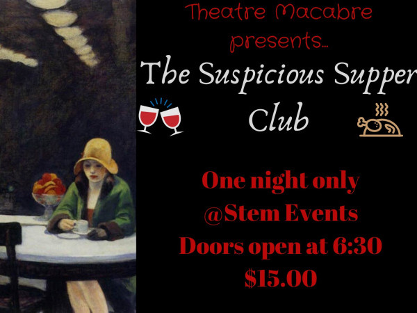 Supper Club Murder Mystery  Event tickets - Stem Events