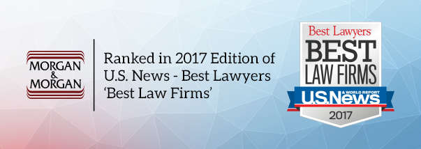 """Three Morgan & Morgan Offices Listed in 2017 Edition of U.S. News """"Best Law Firms"""" Hero Image"""