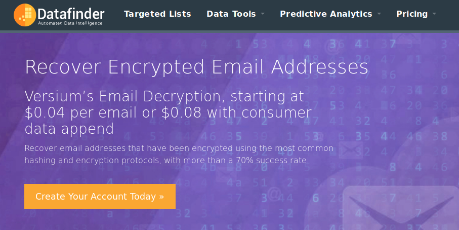 Four cents to deanonymize: Companies reverse hashed email addresses