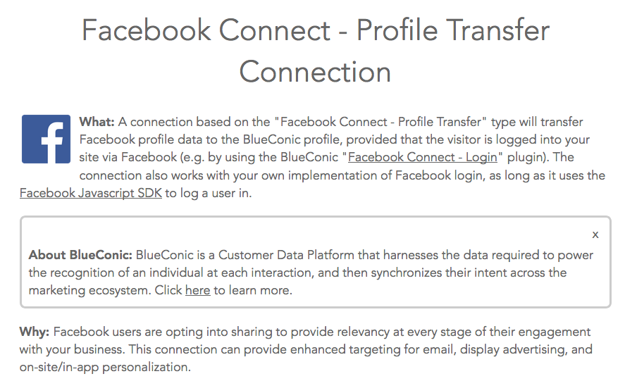 Blueconic's profile transfer service terms.