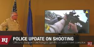 Las Vegas police discuss apartment standoff, shooting