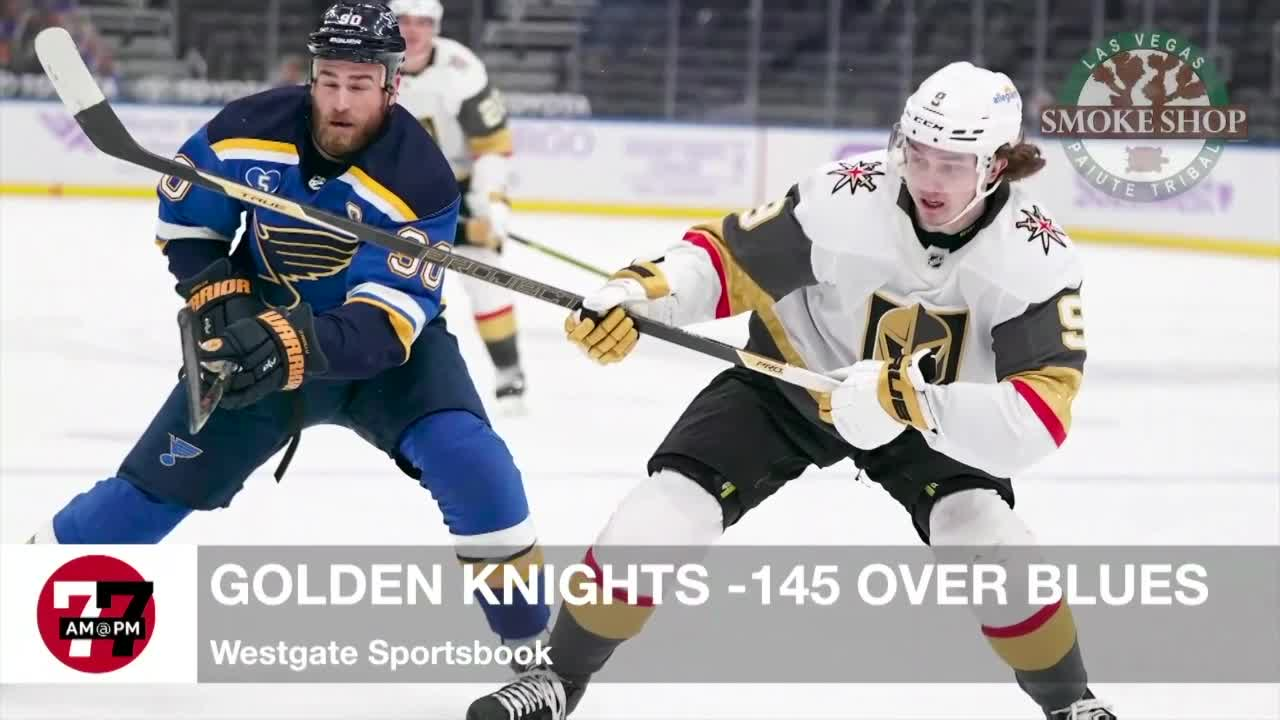 7@7AM Golden Knights -145 over Blues