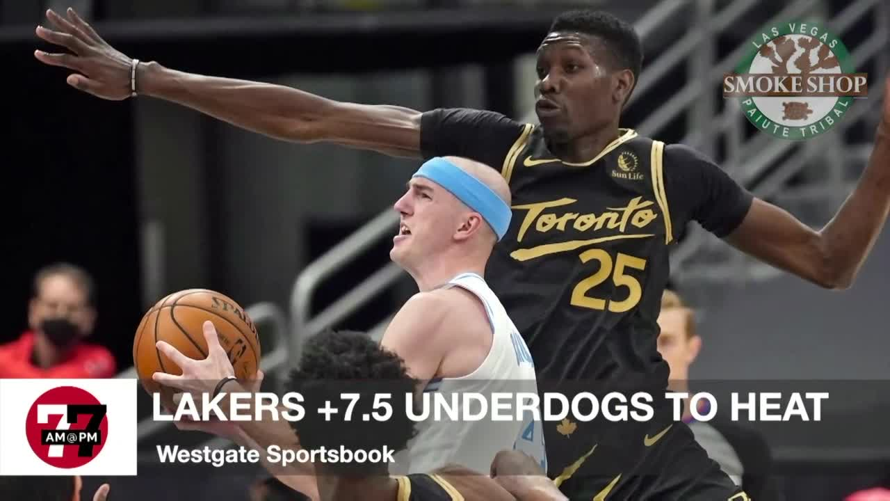 7@7AM Lakers +7.5 Underdogs to Heat