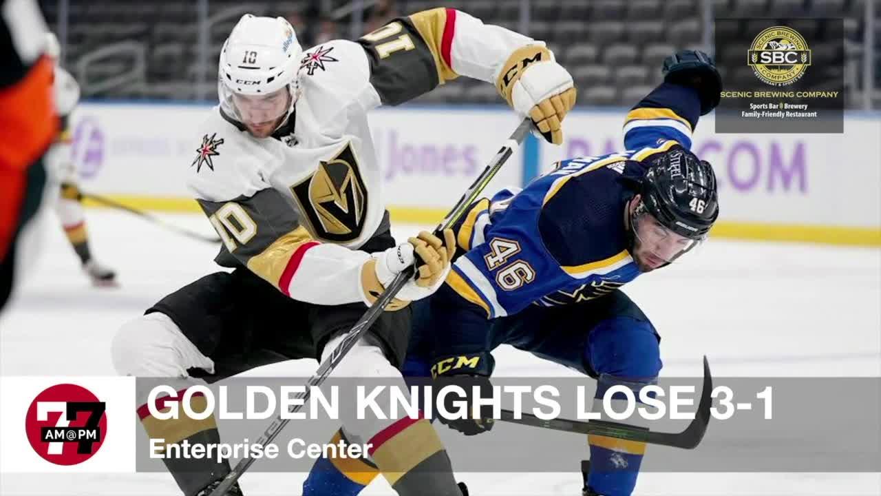 7@7AM Golden Knights Lose 3-1