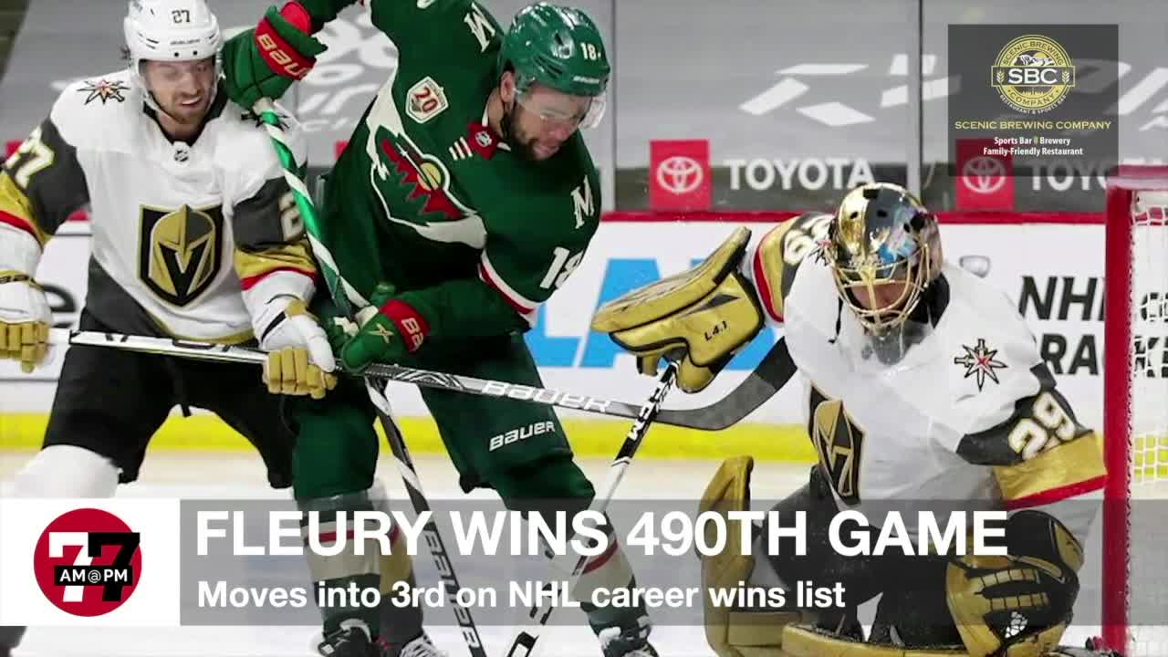 7@7AM Fleury Wins 490th Game