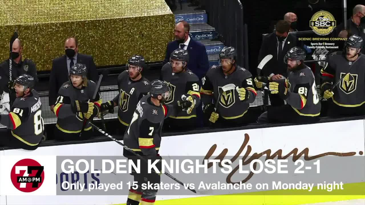7@7AM Golden Knights Lose 2-1