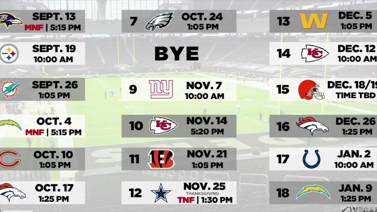7@7AM Raiders Schedule Has Challenges