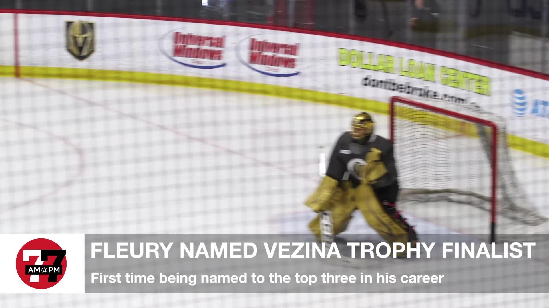 7@7PM Fleury Named Vezina Trophy Finalist