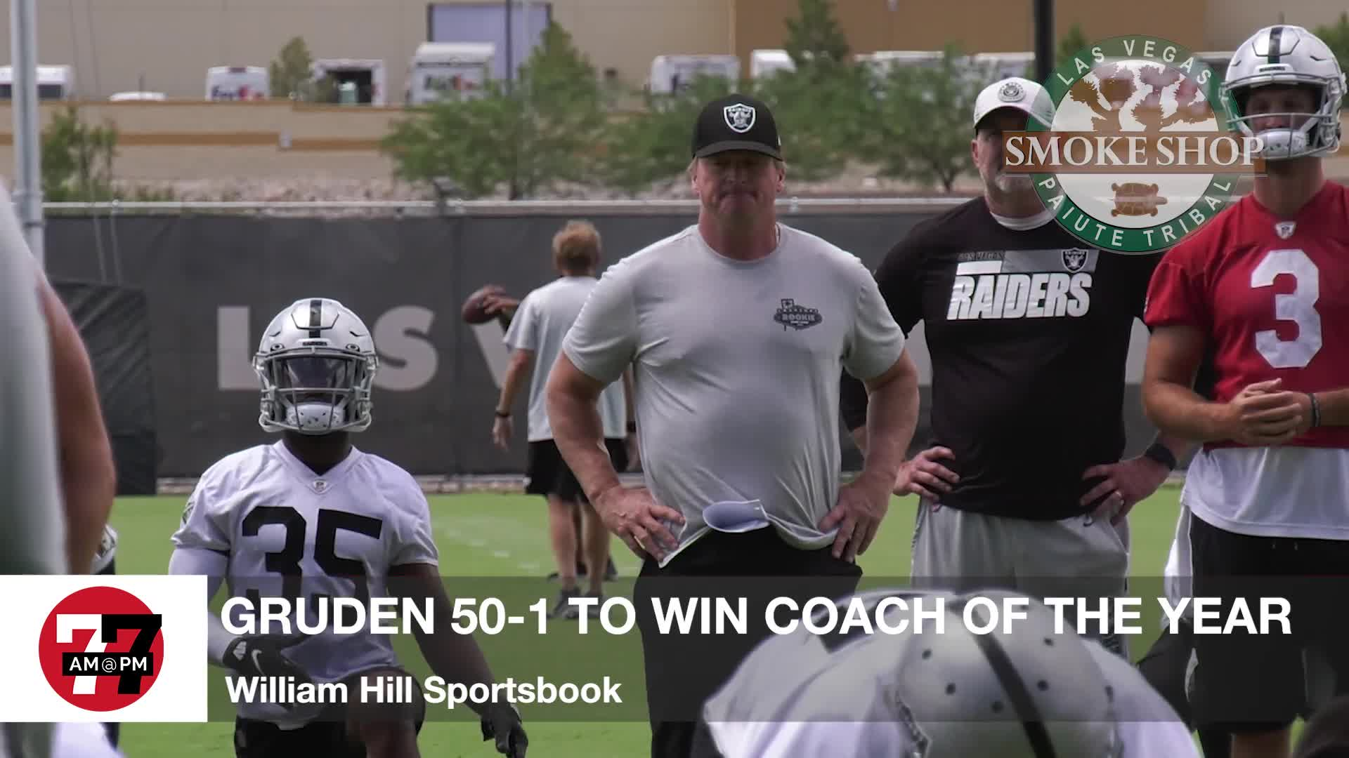 7@7PM Gruden 50-1 to Win Coach of the Year