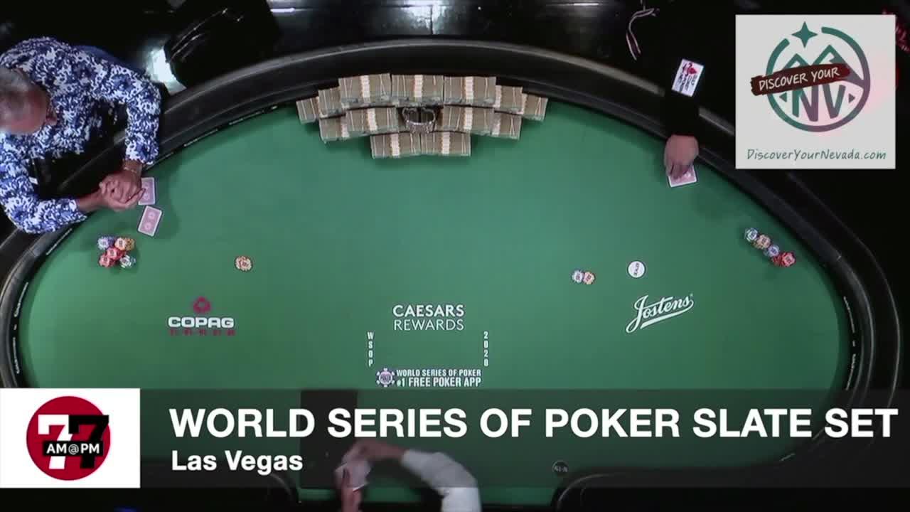 7@7AM World Series of Poker Slate Set