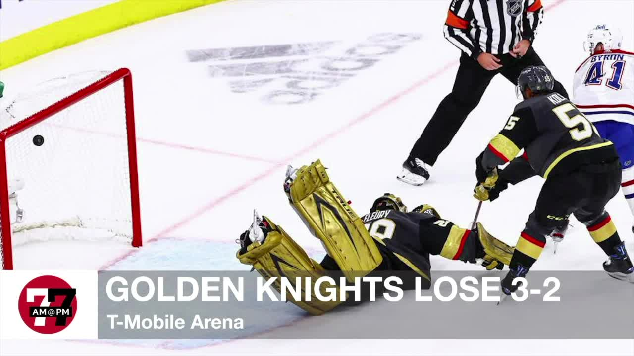 7@7AM Golden Knights Lose 3-2