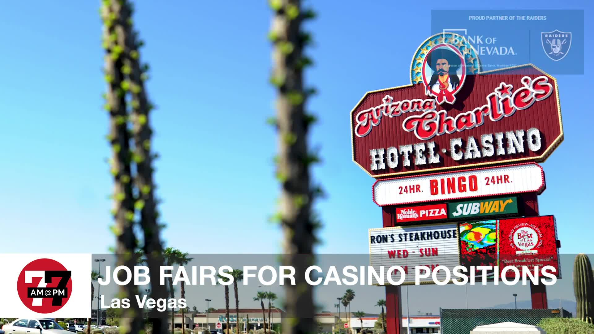 7@7PM Job Fairs For Casino Positions