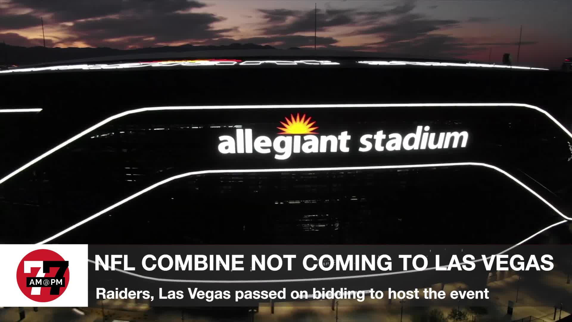 7@7PM NFL Combine Not Coming to Las Vegas