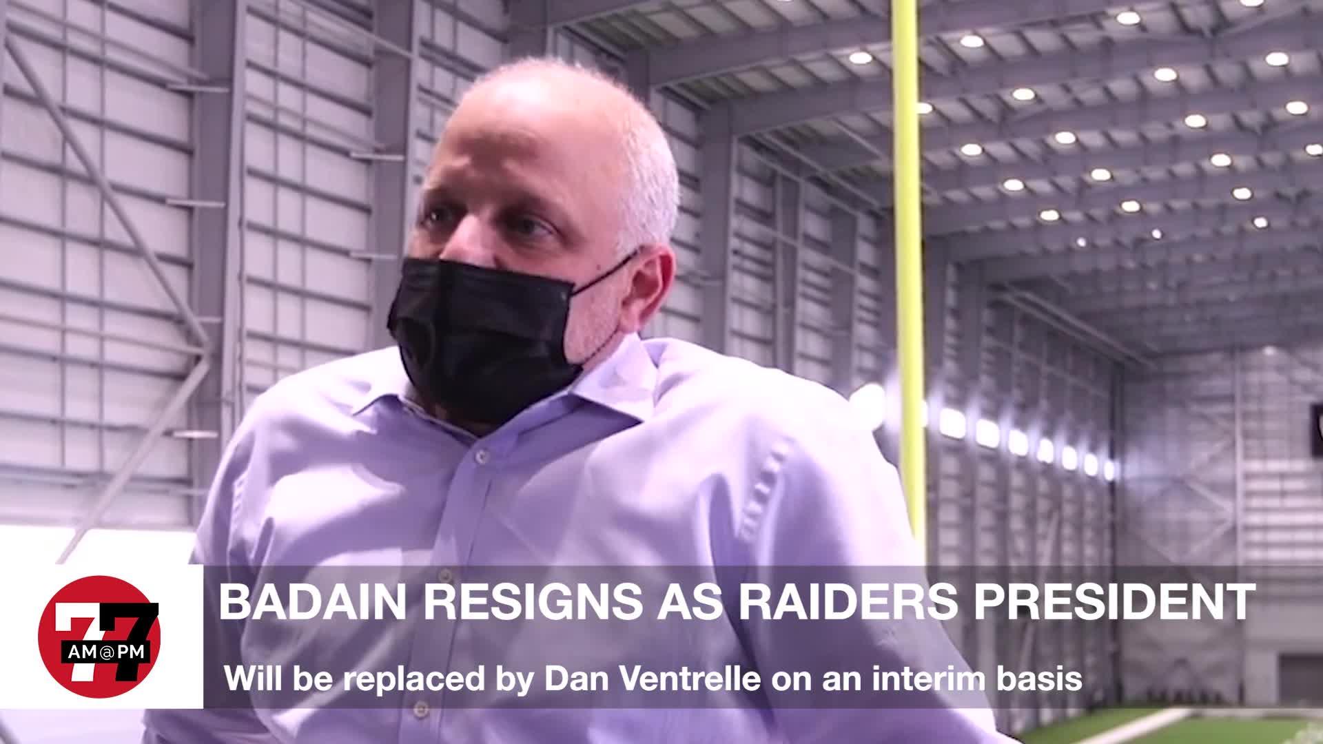 7@7PM Baidain Resigns as Raiders President