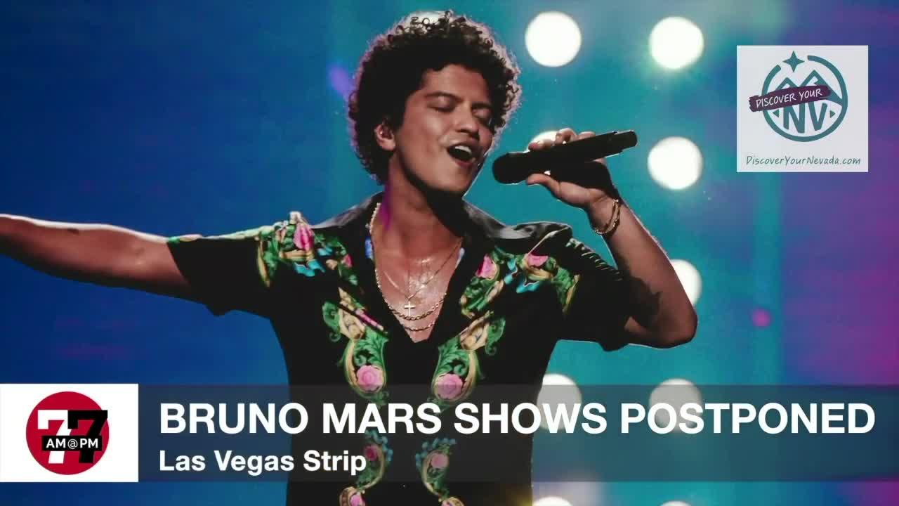 7@7AM Bruno Mars Shows Postponed