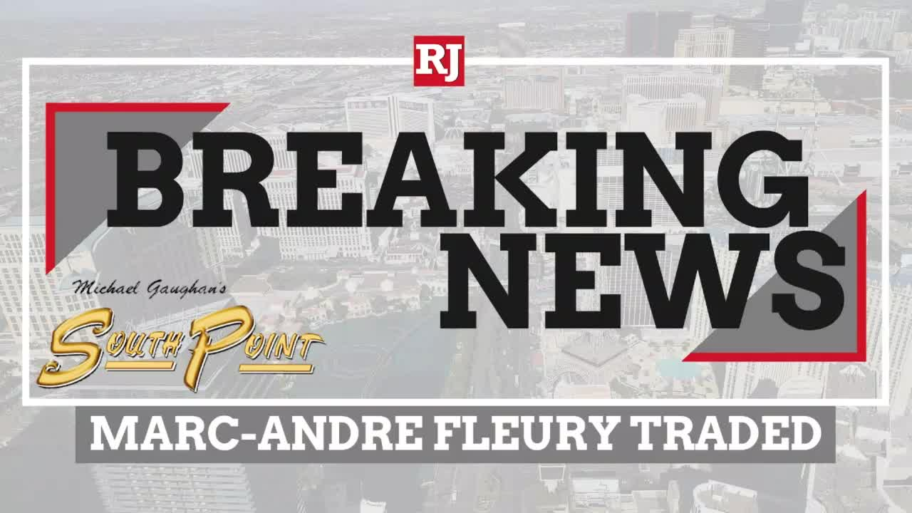 Marc-Andre Fleury Traded