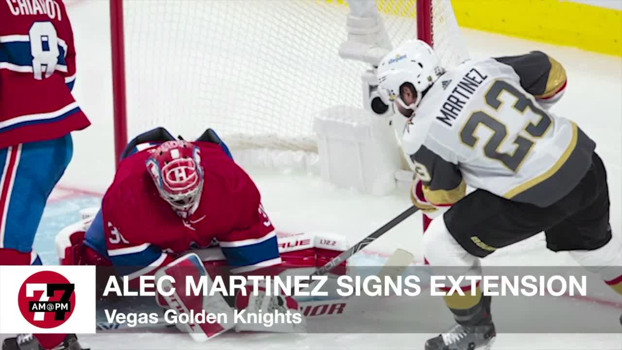 7@7AM Alec Martinez Signs Extension