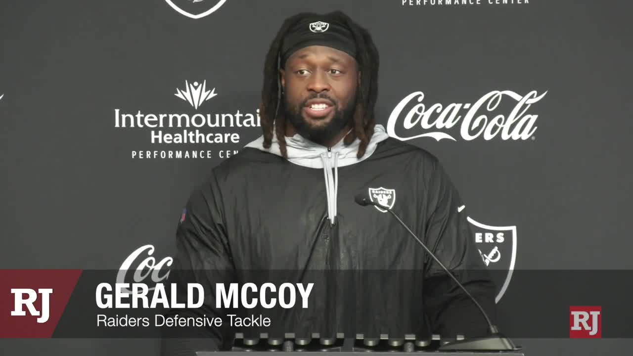 """Raiders' Gerald McCoy: """"I love when people count me out"""""""
