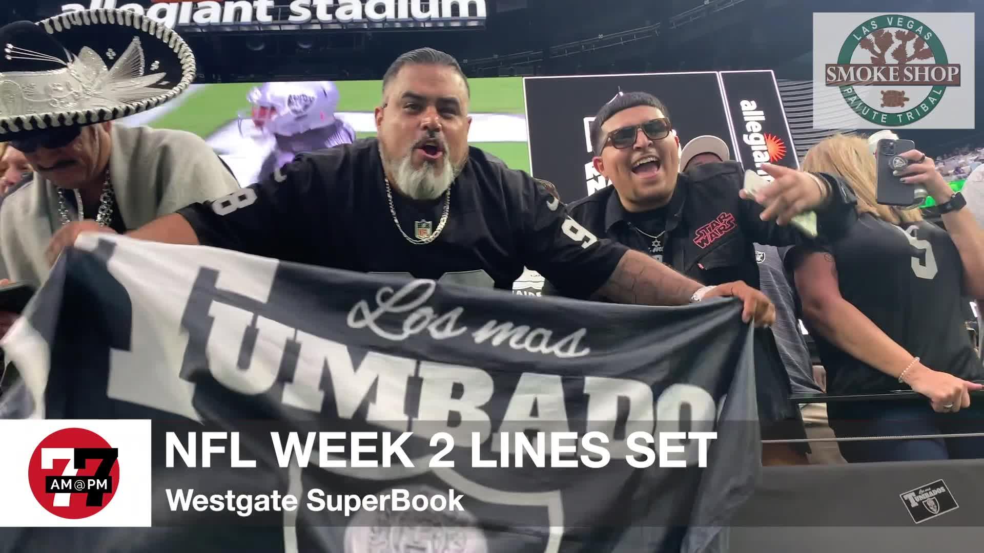 7@7PM NFL Week 2 Lines Set