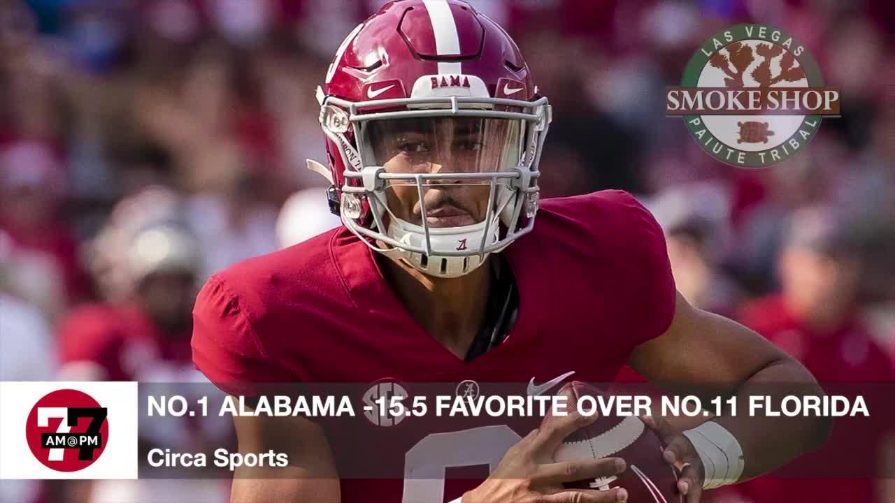7@7AM Alabama Favored Over Florida