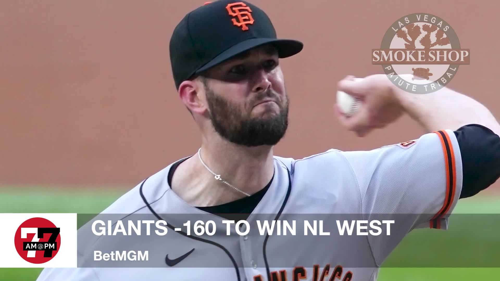 7@7PM Giants -160 to Win NL West