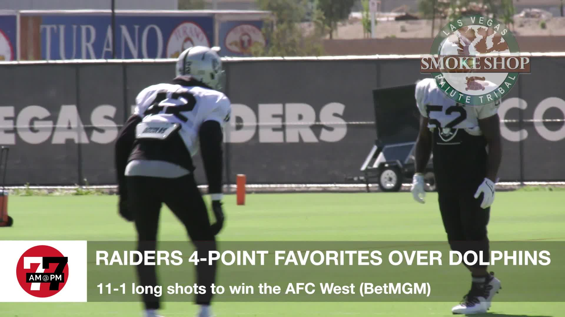 7@7PM Raiders 4 Point Favorites Over Dolphins