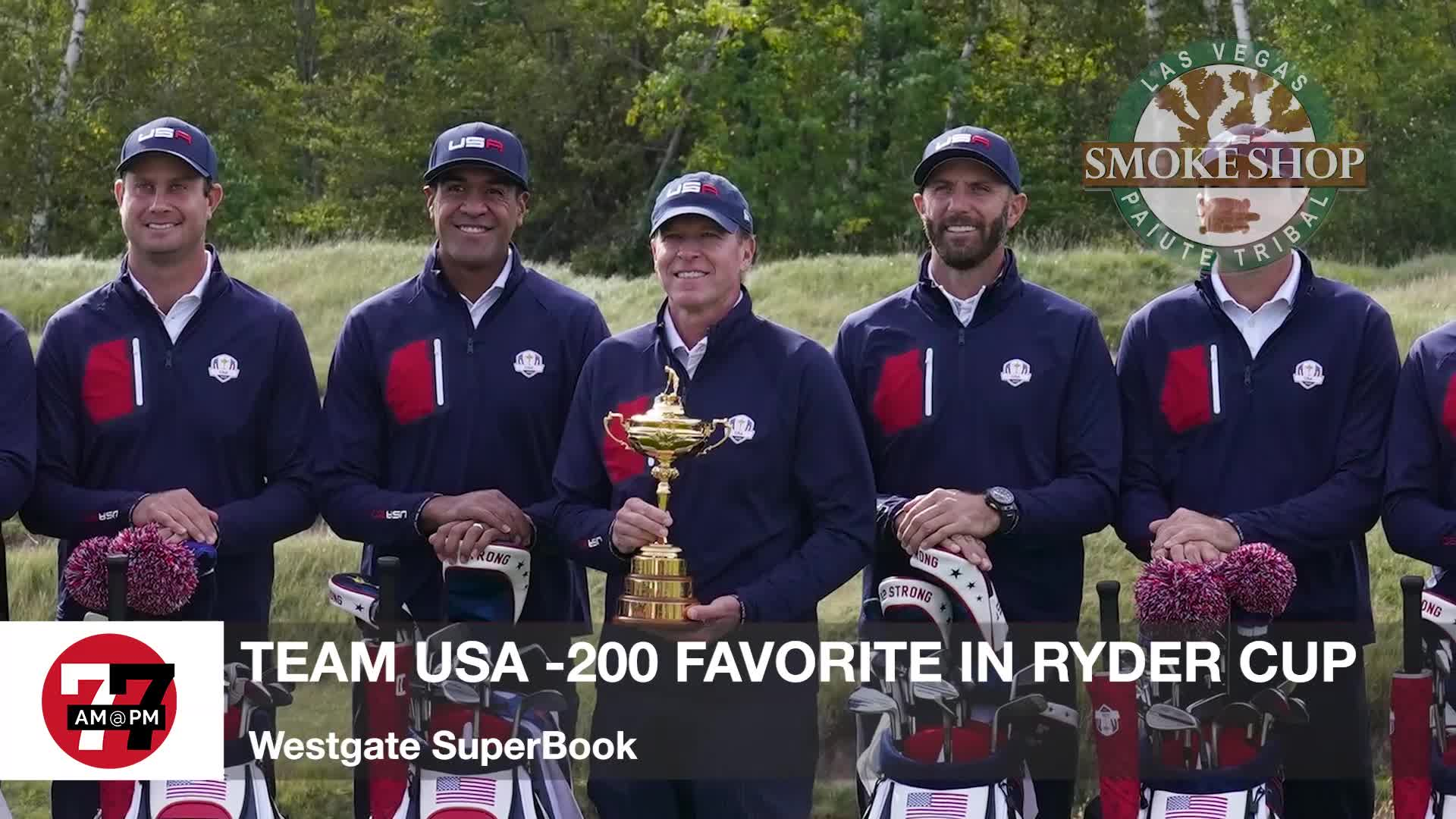7@7PM Team USA -200 Favorite in Ryder Cup