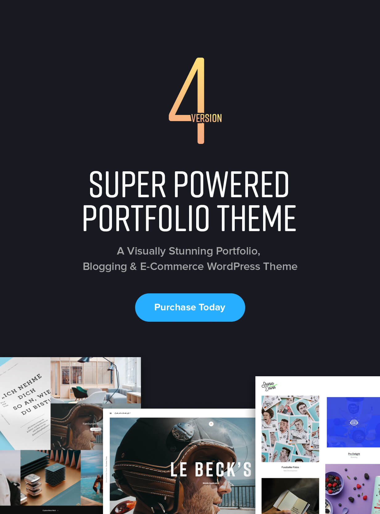 A Visually Stunning WordPress Portfolio Theme